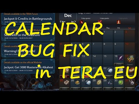 TERA EU - Calendar Bug Fix