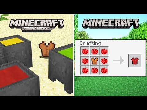 DIFFERENCES BETWEEN MINECRAFT VERSIONS..