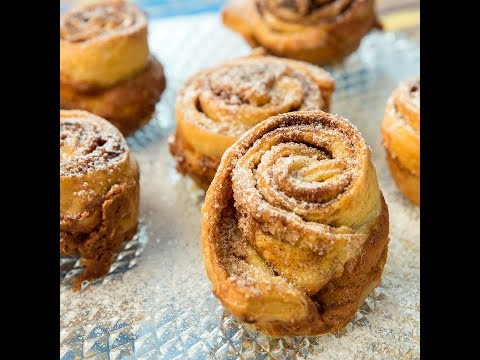 Cinnamon and Peanut Butter Puff Pastry Roll-Ups