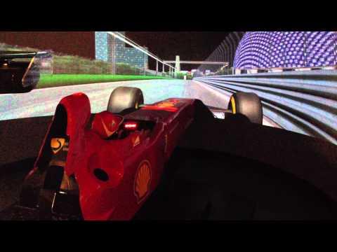 Fernando Alonso laps Singapore 2012 in a simulator.MOV