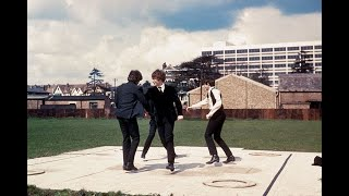 """The Beatles- A Hard Day's Night- Movie (1964) """"Can't buy me love"""" Scene COLORIZED"""