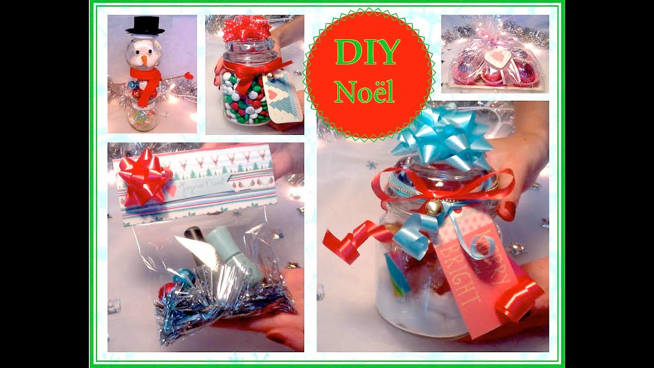 Diy no l 2 id es de cadeaux faire soi m me youtube - Creation facile a faire ...