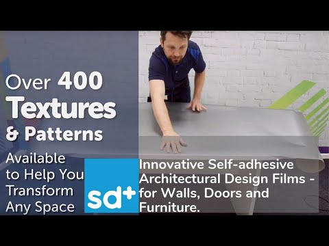 Innovative Self-adhesive Architectural Design Films - for Walls, Doors and Furniture.