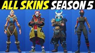 *NEW* ALL SKINS IN FORTNITE SEASON 5 / Fortnite Season 5 Every skin