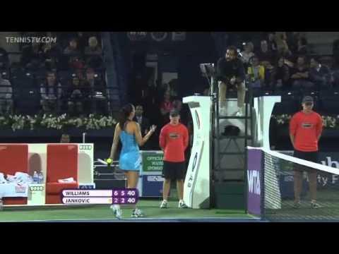 Serena Williams and Jelena Jankovic Confrontation in Dubai QF