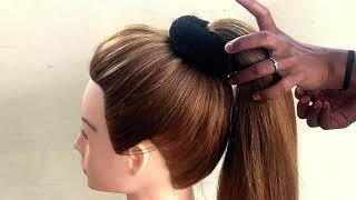 Bun Hairstyle For Party & Function || Beautiful Hairstyles For Long Hair