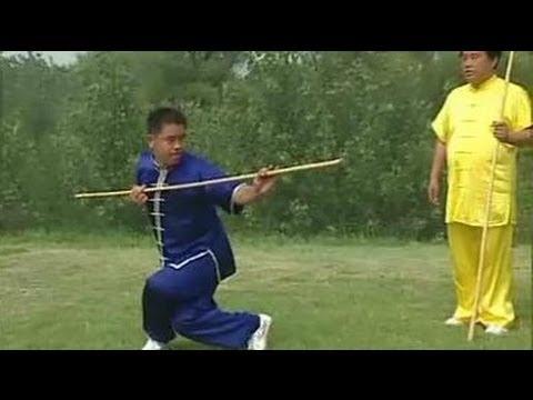 Shaolin kung fu yin&yang staff, combat methods