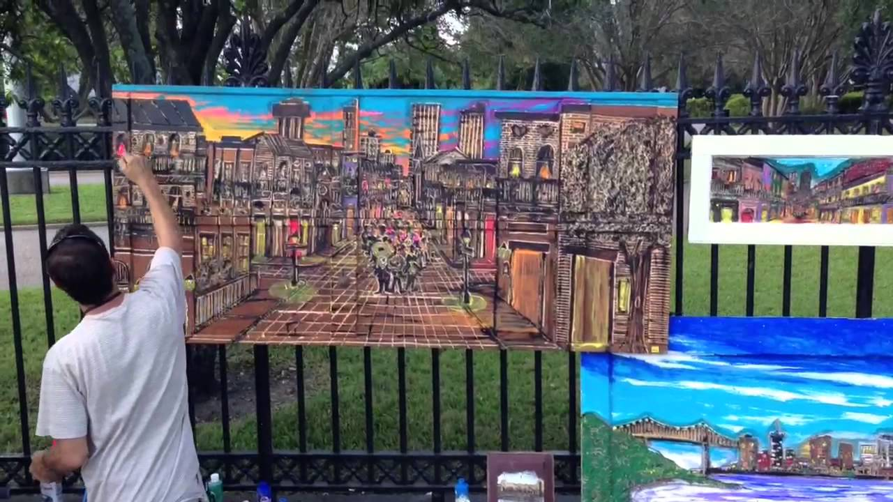 Jackson Square Artists Of New Orleans