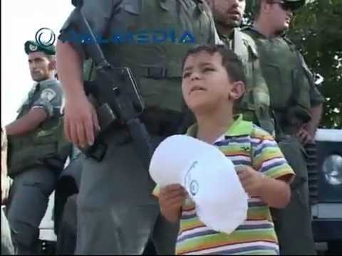 All Human & Child's Rights being Violated by the Israeli Occupation Policemen!