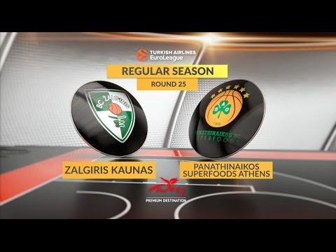Highlights: Zalgiris Kaunas-Panathinaikos Superfoods Athens