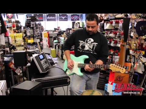 L.A. Music Canada - Sam Demoing a Fender Jeff Beck and Boss JS 10