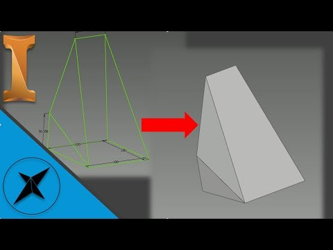 Wireframe 3D Sketch to Solid Conversion | Autodesk Inventor