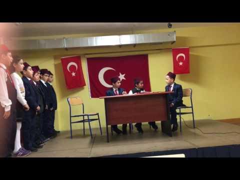 İstiklal Marşı'nın Kabulü adlı tiyatro oyunumuz.