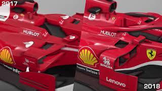 2017-2018 Ferrari F1 car comparison