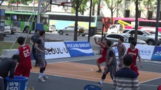 제 1회 서울 광화문 길거리 농구대회 B코트 16강 1경기 피데스 vs 서브원 전반전 1