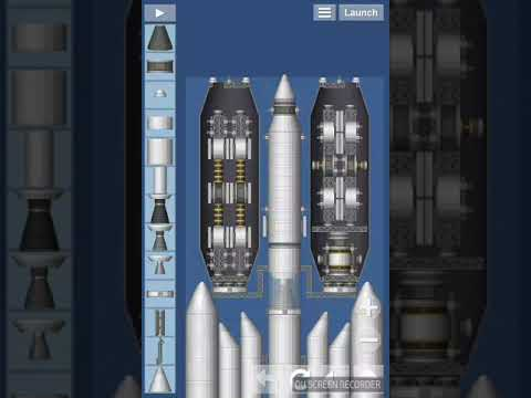 The most simple space station (guide) + big cargo rocket in space flight simulator