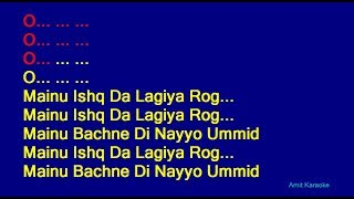 Mainu Ishq Da Lagiya Rog - Anuradha Paudwal Hindi Full Karaoke with Lyrics