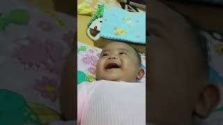 Cute baby laugh