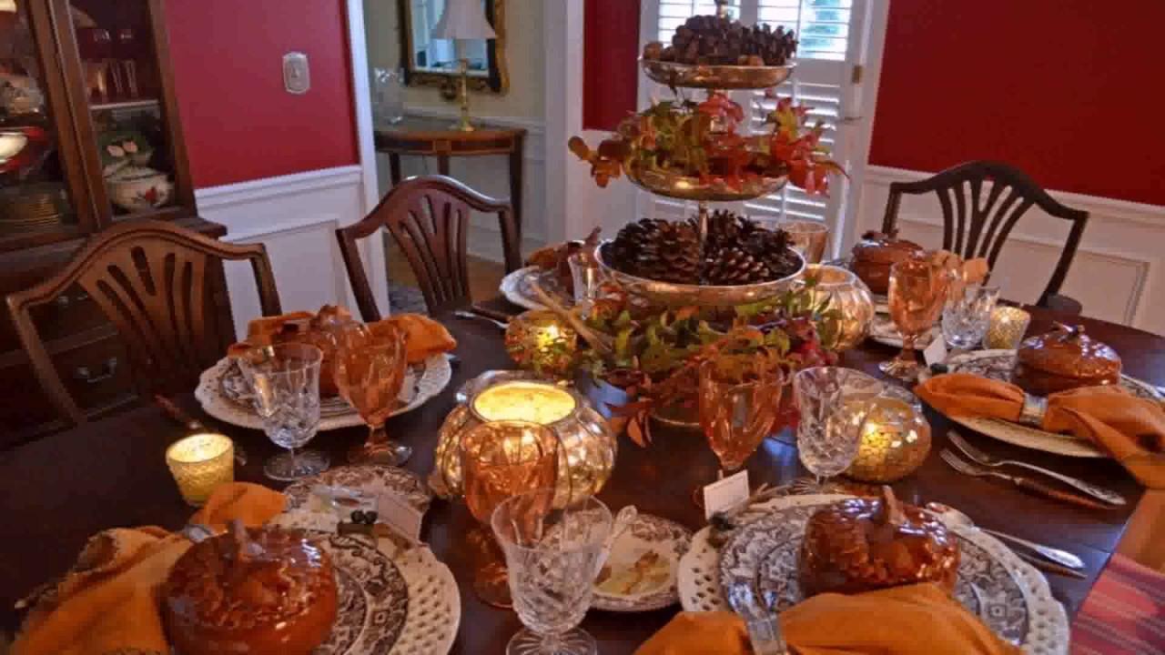 Diy Thanksgiving Table Decor Pinterest Youtube