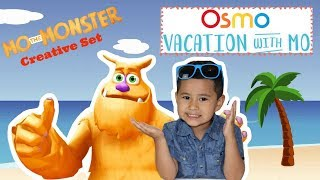 Vacation with MO - OSMO Summer Fun! Mo the Monster Game Review,OSMO Creative Set