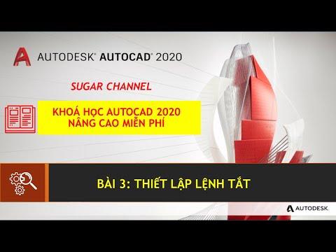 AUTOCAD 2020 - BÀI 3: THIẾT LẬP LỆNH TẮT | SUGAR MEPF