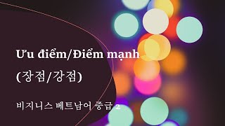 비지니스베트남어 중급_2. 장점/강점
