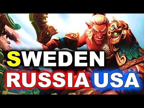 Team SWEDEN vs RUSSIA + USA - WESG 2018 DOTA 2