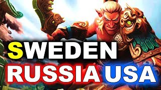 Team SWEDEN vs RUSSIA + USA - WESG 2018 DOTA 2