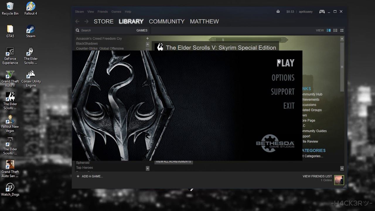 How to make Skyrim Special Edition fullscreen windowed