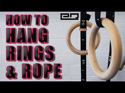 How To Hang Gymnastics Rings and Climbing Rope! DIY Bracket!