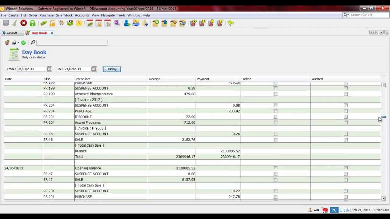 Accounting Software : Reports Ledger, Day book, Trial balance ...