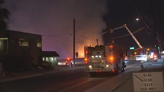 Crews work to battle central Phoenix structure fire