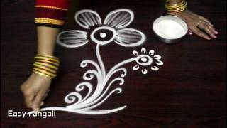creative and beautiful rangoli art designs || kolam designs freehand || muggulu designs without dots