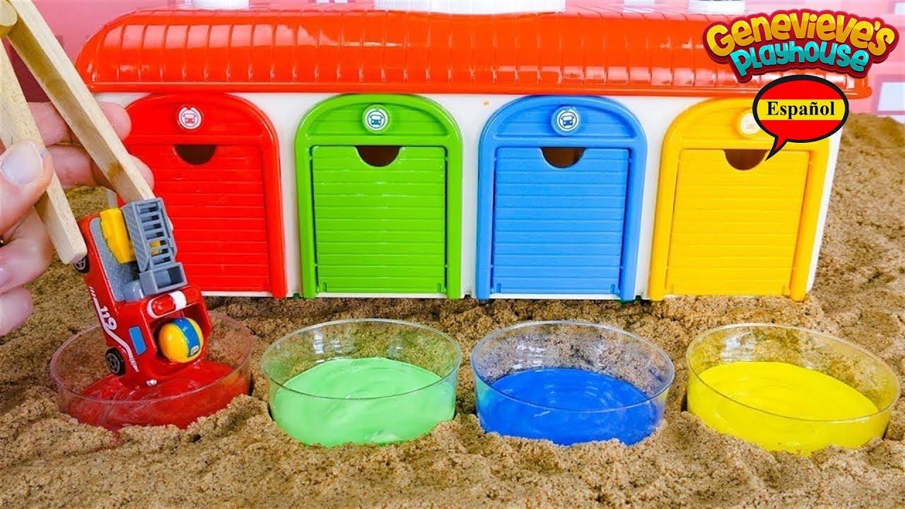 ¡Enseñe a los niños palabras en español e inglés con Painting Pororo Toy Car Fun!