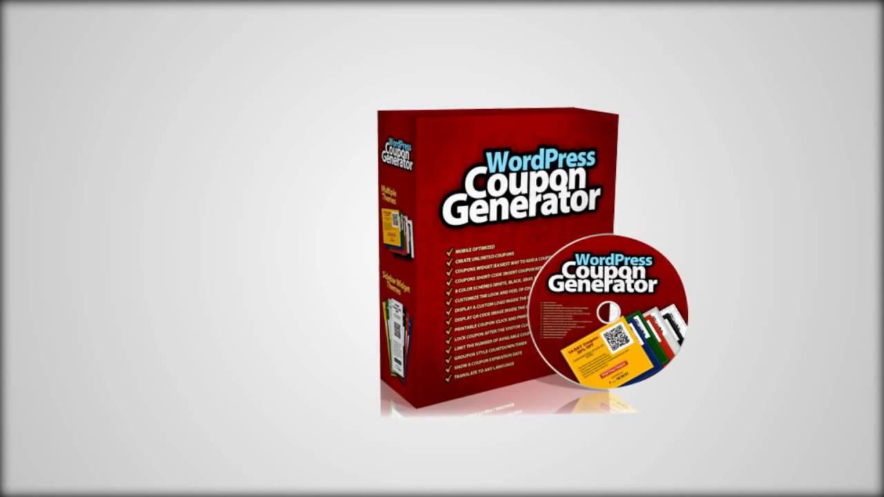 coupon maker review wp coupon generator youtube