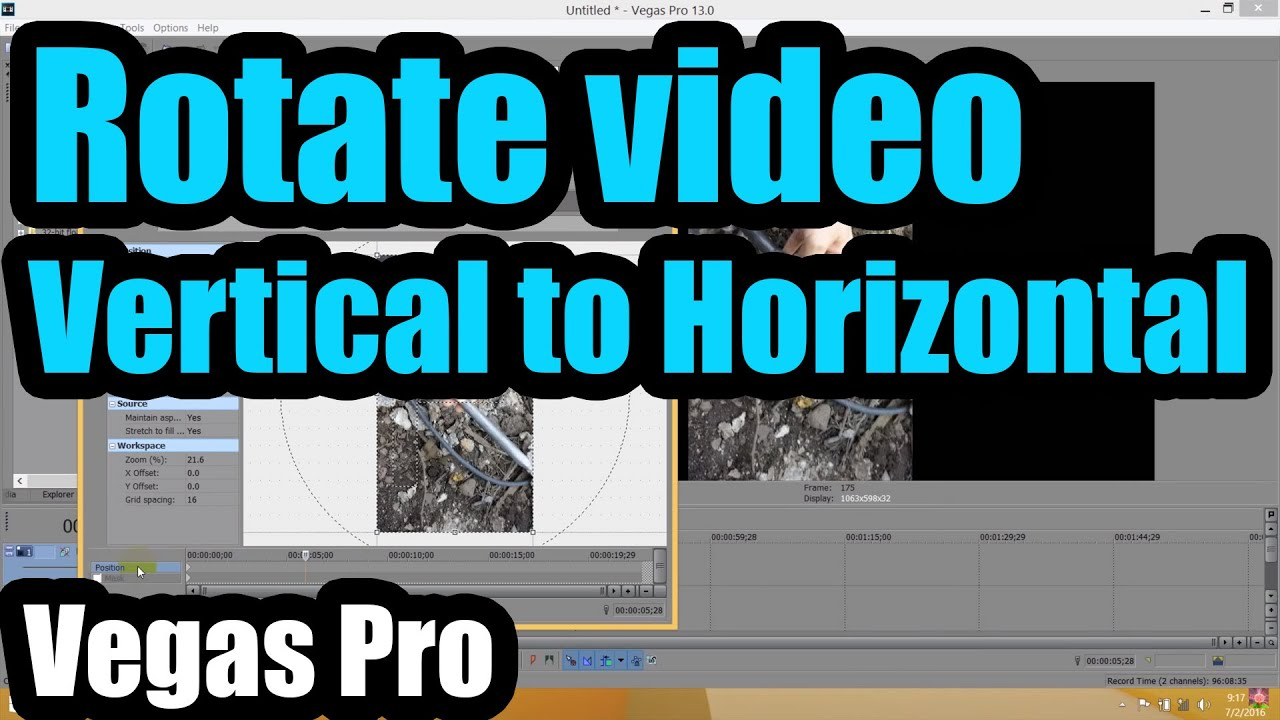 How to rotate vertical videos to horizontal in sony vegas youtube how to rotate vertical videos to horizontal in sony vegas ccuart Images