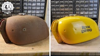 Rusty Motorcycle Fuel Tank Restoration