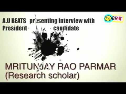 Mrityunjay Rao Parmar  president post candidate in ALLAHABAD UNIVERSITY STUDENT UNION ELECTION