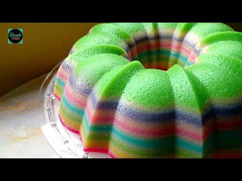 Steamed Layer Cake Kuih Lapis Pandan