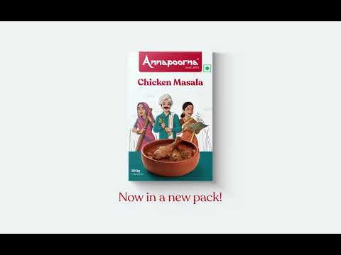 Annapoorna Chicken Masala - Unveiling the new packaging