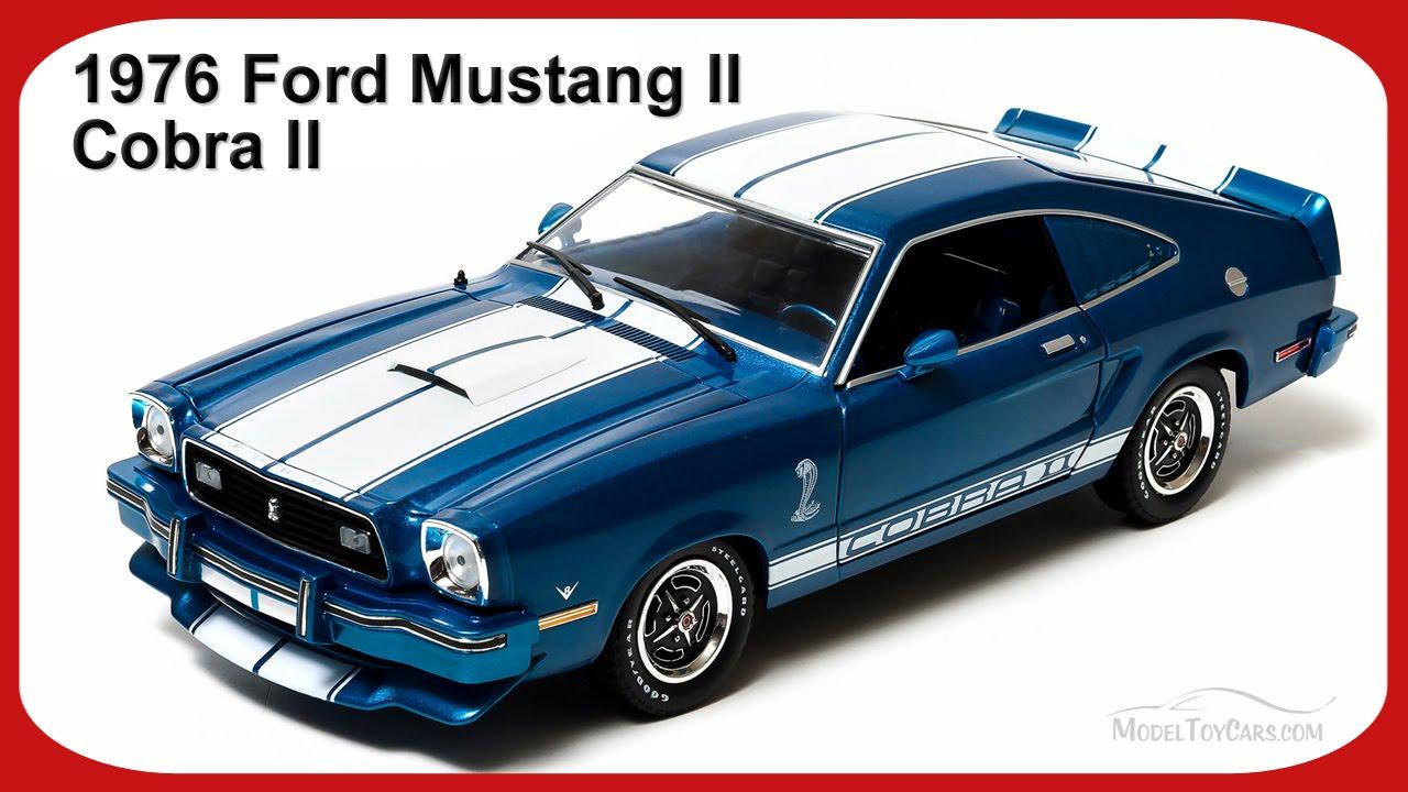 1976 Ford Mustang II Cobra II Blue W White Stripes