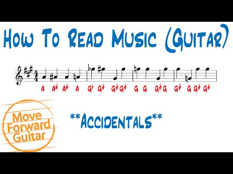 How to Read Music (Guitar) - Accidentals