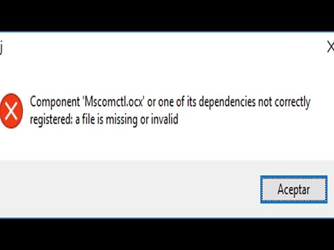 Component mscomctl ocx or one of its dependencies not correctly registered