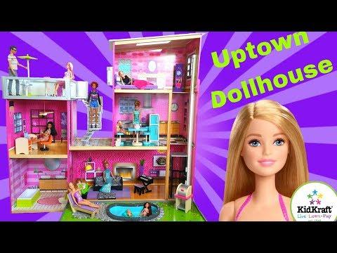 Barbie Dream House| KidKraft Wooden Uptown Dollhouse Tour| Metztli's Corner
