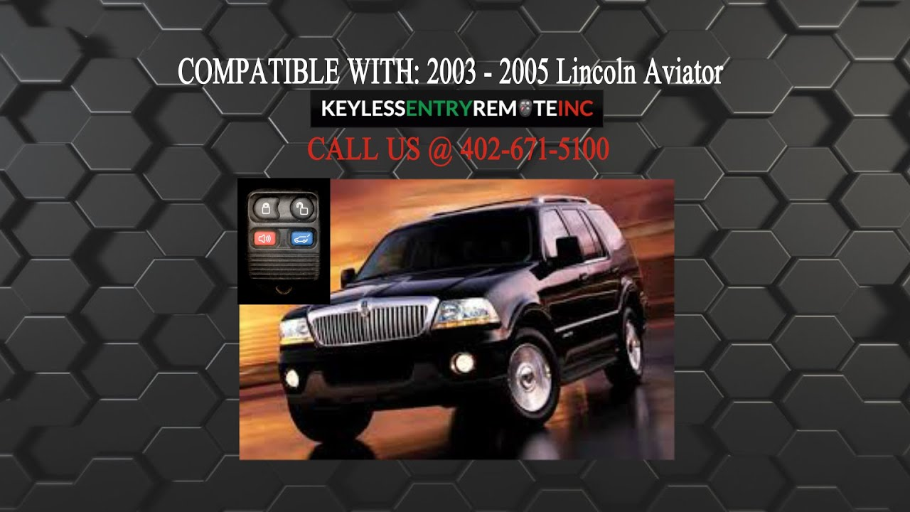 How To Replace Lincoln Aviator Key Fob Battery 2003 2004 2005 Youtube