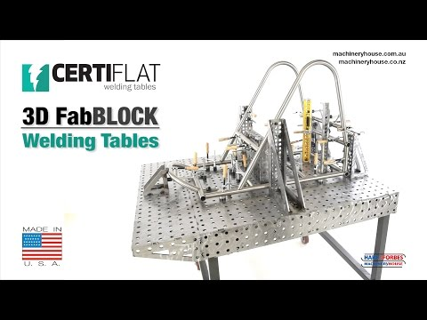 CertiFlat fabBLOCK 3D Welding Tables