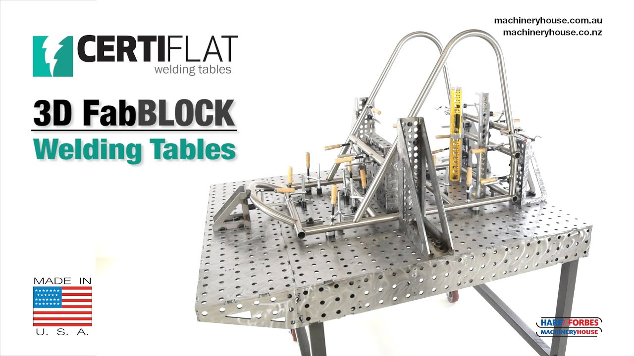 Certiflat Fabblock 3d Welding Tables Youtube