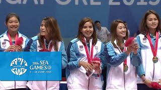 Volleyball Womens Final Victory ceremony (Day 16) | 28th SEA Games Singapore 2015