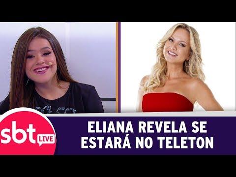 SBT Live Com Teleton+ - Eliana Revela Se Estará No Teleton | (09/10/17)