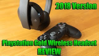 NEW 2018 PS4 Gold Wireless Headset Review (Playstation Gold Headset)